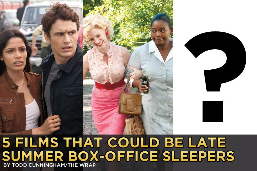 "If there's any hope for Hollywood's summer of 2012 to match the record box office of last year, it's going to need some help.  Even though it's only early August the summer's story is largely written, highlighted by the record-breaking run of ""The Avengers"" and the success of ""Dark Knight Rises"" in the face of horrific tragedy.  Universal's ""The Bourne Legacy"" and ""The Expendables 2"" from Lionsgate are coming up and both are tracking strongly and look like $100 million movies. But barring an unforeseen breakout hit, the summer's domestic grosses will likely fall short of last year's record $4.4 billion haul. A late-season surprise along the lines of last year's ""Rise of the Planet of the Apes"" or ""The Help,"" both of which over-performed and played well into September, would come in handy.  So which upcoming movies offer the best hope? Here are some that while not necessarily tracking as hits right now -- they wouldn't be surprises then, would they? -- might fit that bill:"