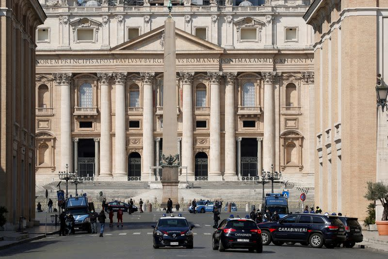 Palm Sunday during the coronavirus disease (COVID-19) outbreak, at the Vatican