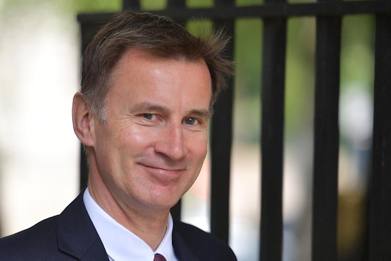 Foreign Secretary Jeremy Hunt has promised to take Britain out of the EU as quickly as possible -- just like his leading rival Johnson (AFP Photo/Daniel LEAL-OLIVAS)