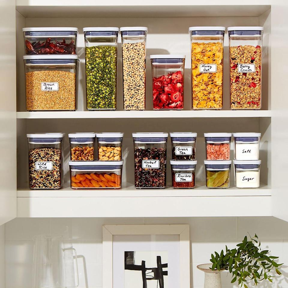 <p>Get your pantry in order with the <span>OXO Good Grips POP Square Canisters</span> ($9-$20).</p>