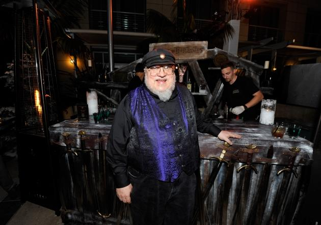 George R.R. Martin attends the 'Game Of Thrones' HBO celebration party inside the WIRED Cafe at Palm Terrace At The Omni Hotel during Comic-Con International 2012 on July 13, 2012 -- Getty Images