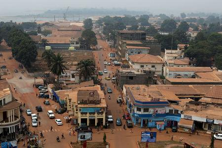 FILE PHOTO: A general view shows part of the capital Bangui