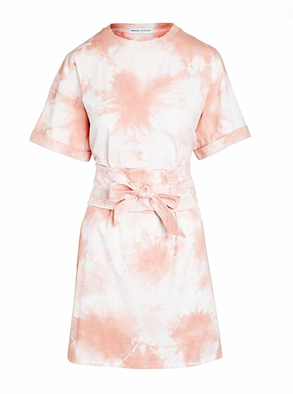 "Yes, you can get designer clothes with Amazon-level shipping times. This Rebecca Minkoff tie-dye number is the perfect pastel piece to commence summertime. $74, Amazon. <a href=""https://www.amazon.com/Rebecca-Minkoff-Womens-Marta-Medium/dp/B0872Z3TJL"" rel=""nofollow noopener"" target=""_blank"" data-ylk=""slk:Get it now!"" class=""link rapid-noclick-resp"">Get it now!</a>"