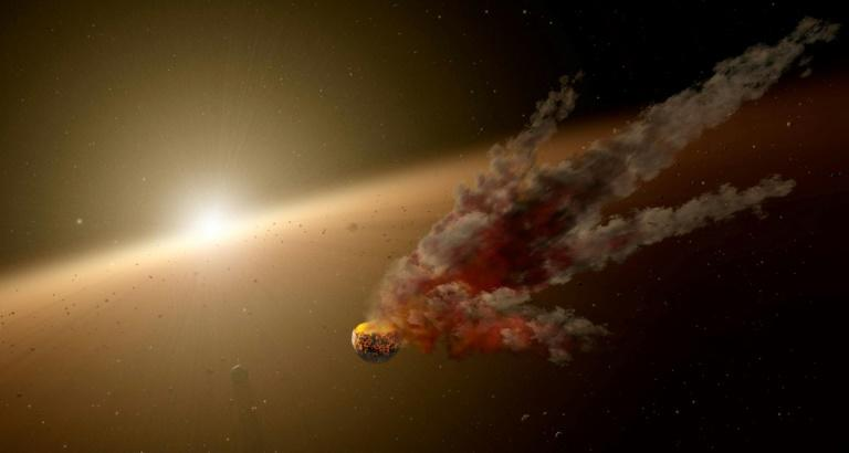 An artist's illustration of the star KIC 8462852, seen in a NASA handout image obtained January 3, 2018