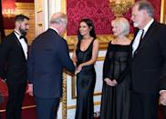 """<p>Royal protocol really boils down to everything being up to the royal to initiate, especially physical contact. It's only <a href=""""https://www.youtube.com/watch?v=TXr4vNrsgEQ&feature=youtu.be"""" rel=""""nofollow noopener"""" target=""""_blank"""" data-ylk=""""slk:after they extend the gesture"""" class=""""link rapid-noclick-resp"""">after they extend the gesture</a> that a celebrity may reciprocate. </p>"""