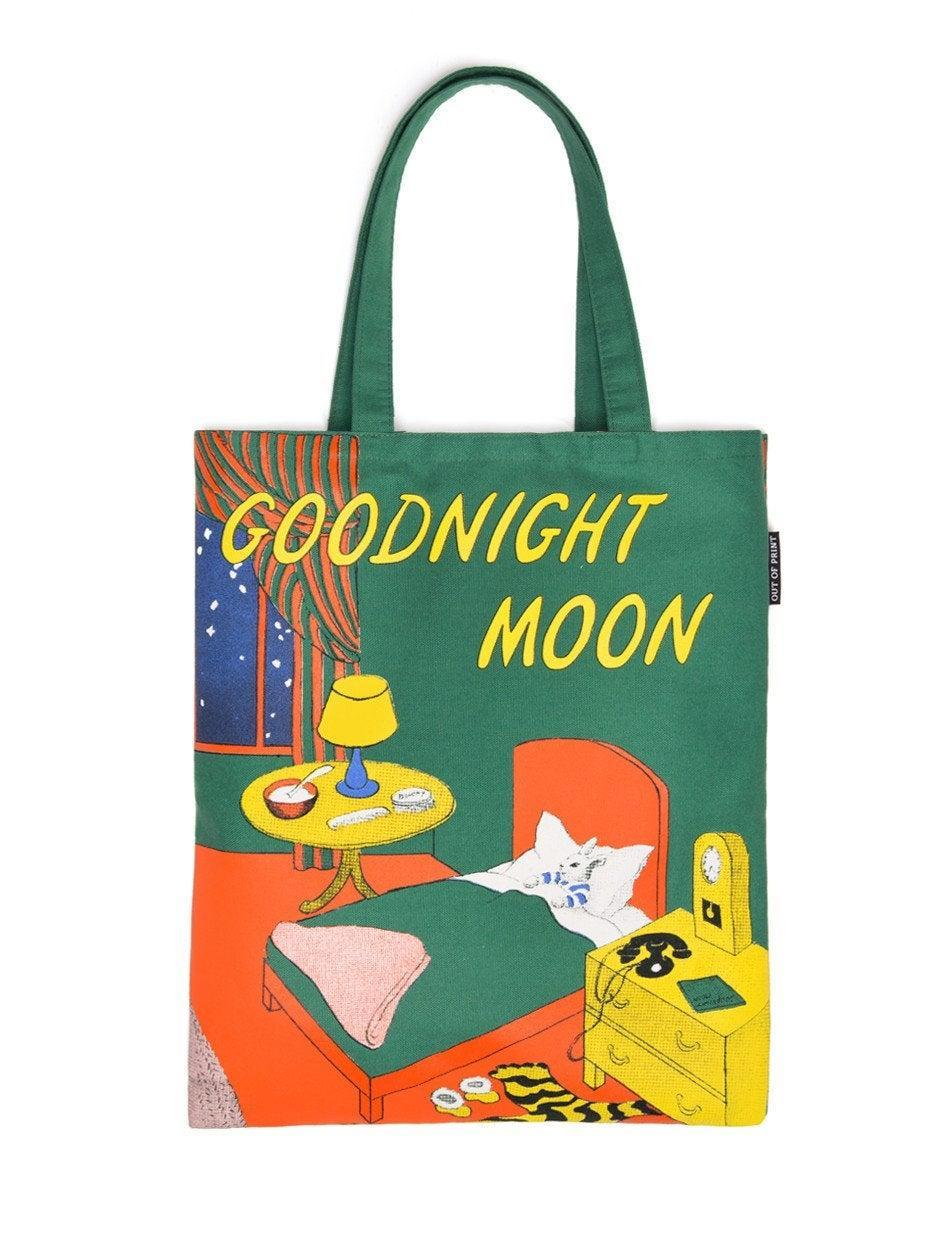 """<h2>""""Goodnight Moon"""" Tote<br></h2><br>A sweet and beautifully designed gift for any lover of classic books — or fans of famed illustrator Clement Hurd. <br><br><strong>Out of Print</strong> Goodnight Moon Tote Bag, $, available at <a href=""""https://www.amazon.com/dp/B00XK75E9W"""" rel=""""nofollow noopener"""" target=""""_blank"""" data-ylk=""""slk:Amazon"""" class=""""link rapid-noclick-resp"""">Amazon</a>"""