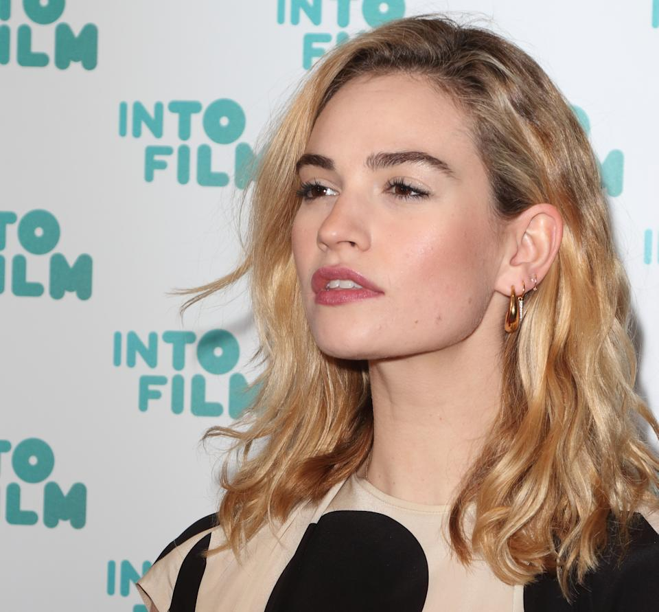 Lily James seen during the Into Film Awards 2019 at the Odeon Luxe cinema, Leicester Square in London. (Photo by Keith Mayhew / SOPA Images/Sipa USA)