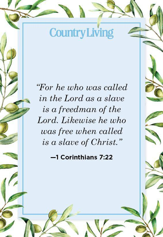 """<p>""""For he who was called in the Lord as a slave is a freedman of the Lord. Likewise he who was free when called is a slave of Christ.""""</p>"""