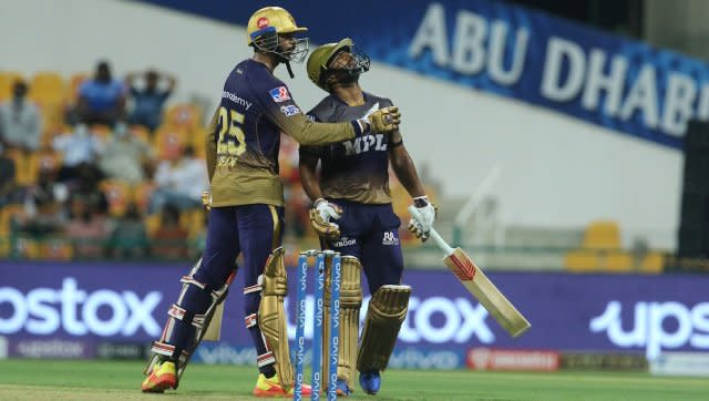 Rahul Tripathi scored a free-flowing knock of 74 as Kolkata Knight Riders chased down a target of 156 to beat Mumbai Indians by 7 wickets. SportzPics
