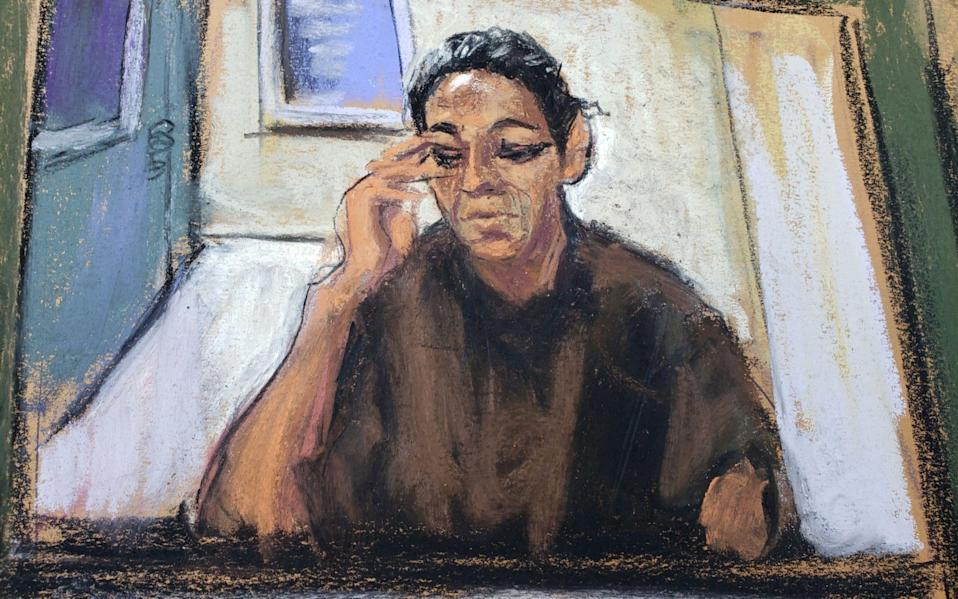 Ghislaine Maxwell appears via video link during her arraignment hearing on July 14 in Manhattan Federal Court in New York where she was denied bail - JANE ROSENBERG/Reuters