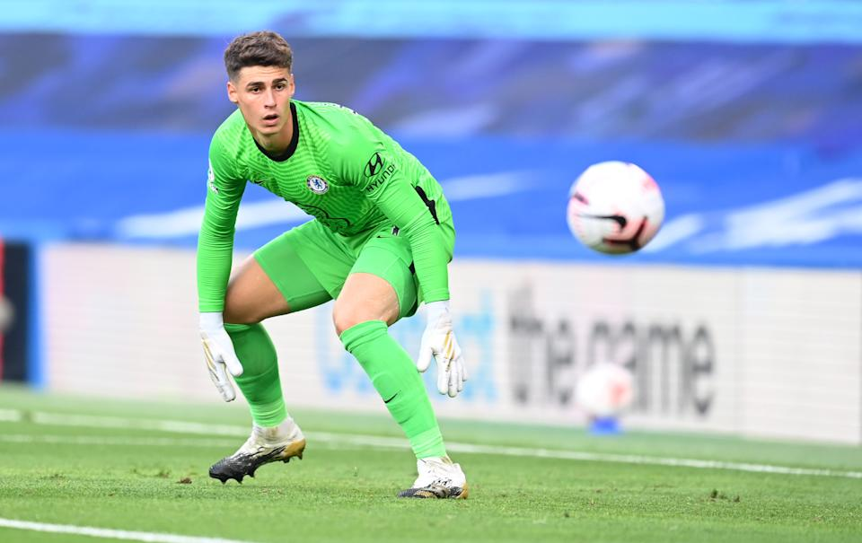 Chelsea goalkeeper Kepa Arrizabalaga had another rough outing on Sunday against Liverpool. (Photo by Michael Regan/Getty Images)