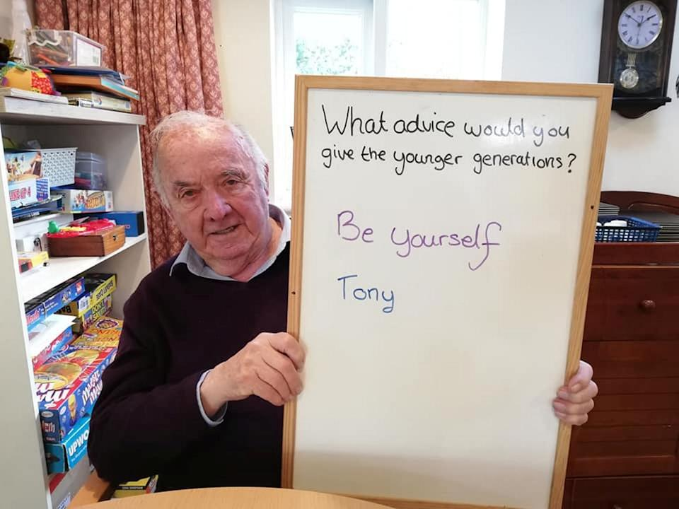 Tony had one simple piece of advice for future generations. (SWNS)