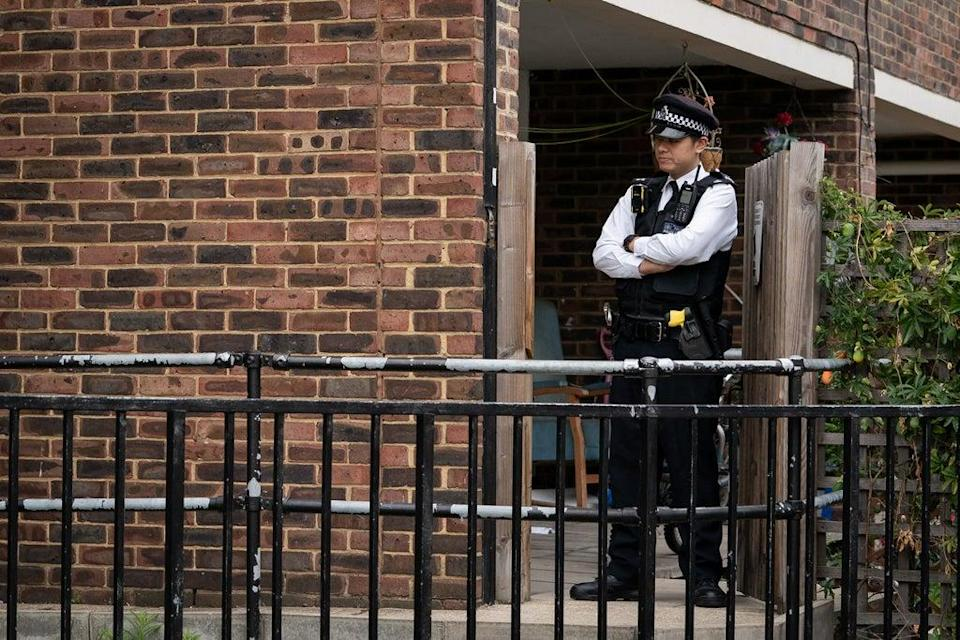 Police outside an address on Ashbridge Street, London, after the murder investigation was launched (Aaron Chown/PA) (PA Wire)