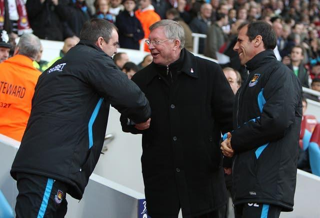 Steve Clarke and Sir Alex  Ferguson