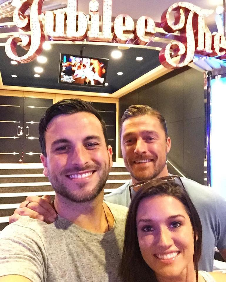 <p>#Janner here! We're taking over #yahootv today and sharing our memories from being on @millionairetv. Here we had just arrived to Harrah's and look who we ran into, Chris Soules! We are all excited to be here to raise money for charity and play the best game show on TV! — @jadelizroper& @tanner.tolbert #millionairetv #bachelornation <br />(Photo: via Instagram) </p>