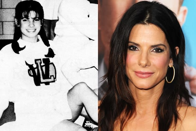 Sandra Bullock at Washington Lee High and post Oscar stardom — Yearbook Library/Getty