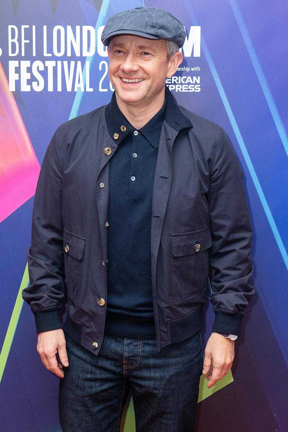 <p>Martin Freeman attends the premiere of <em>Boiling Point</em> at the Odeon Luxe West End cinema in London on Oct. 11.</p>