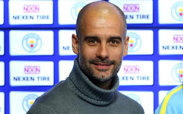 <span>Manchester City manager Pep Guardiola</span> <span>Credit: Rex Features </span>