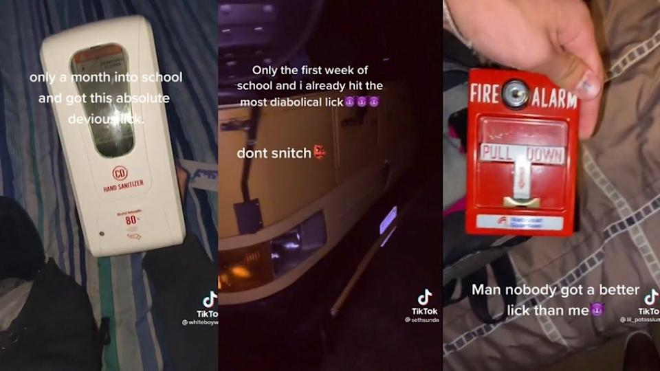 Lick trend: Teens are stealing lab equipments, soap dispensers, and several other things from school for a TikTok trend