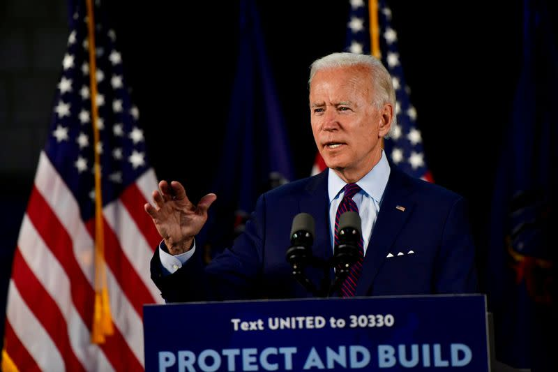 FILE PHOTO: U.S. Democratic presidential candidate Joe Biden holds campaign event in Lancaster, Pennsylvania