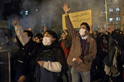 Iranians have held three straight days of protests over the authorities' handling of the disaster