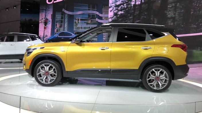 The Kia Seltos small SUV goes on sale in the spring.