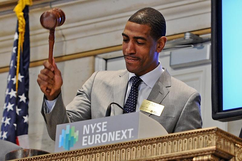 Connecticut Huskies Coaches Geno Auriemma And Kevin Ollie Ring The NYSE Closing Bell