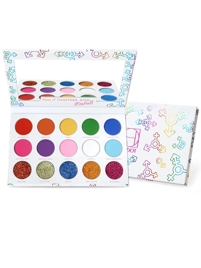 <p>In collaboration with drag queen, The Spiciest Meatball, the <span>HipDot Cosmetics Diamond Diva with Meatball</span> ($22) is a bold and colorful collection of shadows that will inspire you to get creative. HipDot will donate 10 percent of gross sales from the Diamond Diva Eyeshadow Palette to the LGBTQ Freedom Fund.</p>