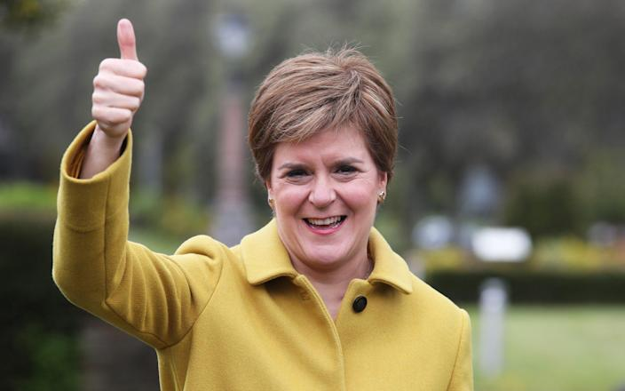 Nicola Sturgeon will make an announcement on Tuesday - Pool/Getty