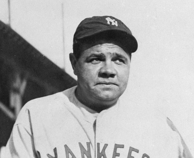 FILE - This undated file photo shows Babe Ruth. As part of its collection of Babe Ruth items, the Baseball Hall of Fame says it has the bat the slugger used to hit his then-record 60th home run in 1927. (AP Photo/File)