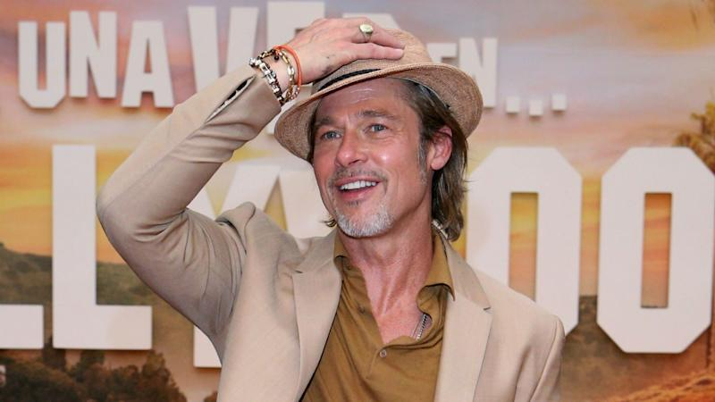 Brad Pitt Is Extra Suave in All-Beige Look With a Fedora: Pics!