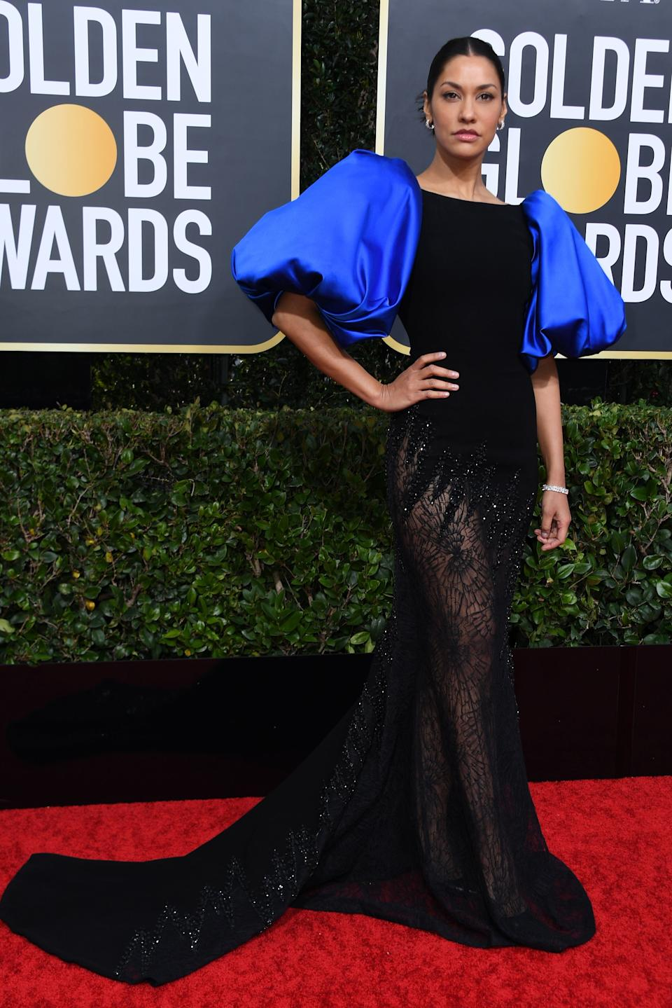 "<h1 class=""title"">Janina Gavankar in Georges Chakra Couture and Hearts On Fire and Mémoire jewelry</h1><cite class=""credit"">Photo: Getty Images</cite>"