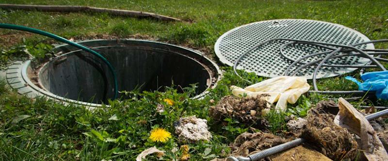cleaning a septic system