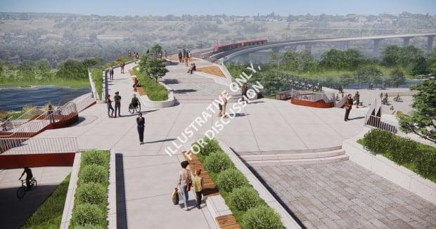 The city has issued imagery for a new green space in Eau Claire, around the portal for the downtown tunnel.