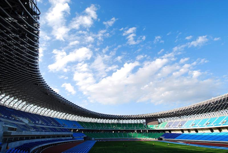 This publicity photo provided courtesy of Toyo Ito and Associates, Architects, shows Japanese architect Toyo Ito's Main Stadium for The World Games 2009 in Kaohsiung, Taiwan. Ito has won the 2013 Pritzker Architecture Prize, the prize's jury announced Sunday, March 17, 2013. Ito, the sixth Japanese architect to receive the prize, is recognized for the libraries, houses, theaters, offices and other buildings he has designed in Japan and beyond. (AP Photo/Courtesy of Toyo Ito and Associates, Architects, Fu Tsu Construction Co., Ltd.)