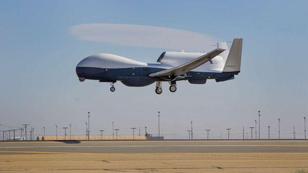PHOTO: The Triton unmanned aircraft system completes its first flight May 22, 2013 from the Northrop Grumman manufacturing facility in Palmdale, Calif. (U.S. Navy photo courtesy of Northrop Grumman photo by Alex Evers)