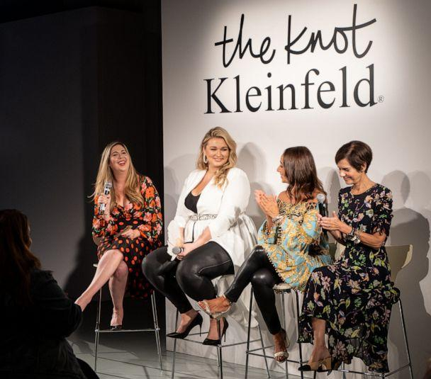 PHOTO: Panel ahead of The Knot x Kleinfeld Fashion Show. (Jessica Kane for The Knot )