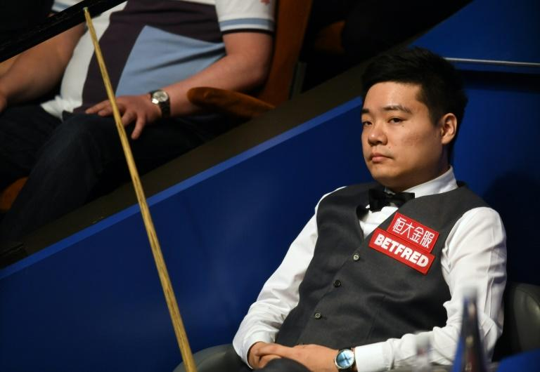 Ding Junhui needs just three more frames of the possible nine to be played to reach his second successive World Championship semi-final in Sheffield