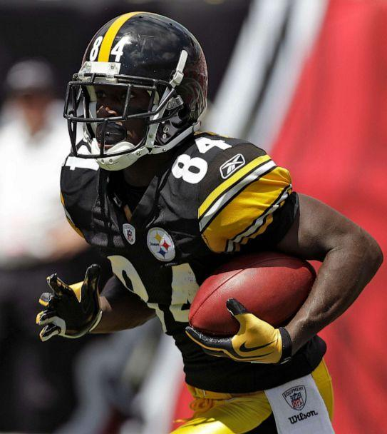 PHOTO: Pittsburgh Steelers wide receiver Antonio Brown against the Tampa Bay Buccaneers during an NFL football game, Sept. 26, 2010, in Tampa, Fla. (Chris O'meara/AP, FILE)