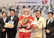 """<p>KFC ran an <a href=""""https://thediplomat.com/2013/12/a-kentucky-fried-christmas-in-japan/"""" rel=""""nofollow noopener"""" target=""""_blank"""" data-ylk=""""slk:ad campaign"""" class=""""link rapid-noclick-resp"""">ad campaign</a> in Japan in 1974 with the slogan """"Kurisumasu ni wa kentakkii!"""" (meaning """"Kentucky for Christmas!"""") and the people were into it. The chain offers a full holiday dinner (complete with a commemorative Christmas plate) for around 3,980 yen or $39.</p>"""