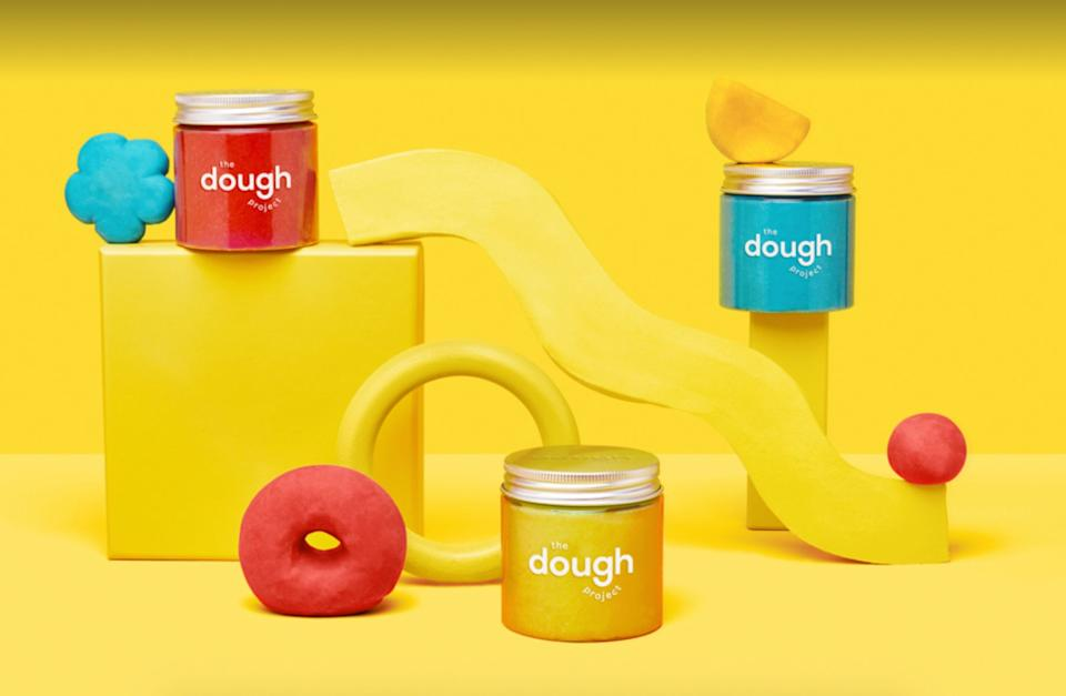 """Engage in some hands-onart and use this plant-based dough to make so many cool things, like mini animal sculptures or geometric shapes.<br /><br /><a href=""""https://go.skimresources.com?id=38395X987171&xs=1&xcust=HPThingsForKidsUsefulForAdultsToo-60a29811e4b090924806a856&url=https%3A%2F%2Fthedoughproject.com%2F"""" target=""""_blank"""" rel=""""noopener noreferrer"""">The Dough Project</a> is a small business founded by a preschool teacher in New York City and is known for organic, plant-based modeling dough that's adored by both kids and parents.<br /><br /><strong>Promising review:</strong> """"I've been using these jarred doughs for a couple weeks and lemme tell you: You don't have to be a kid to enjoy playing with them. <strong>They're super easy to mold and smooth into shapes, smell nice and have cute illustrations under each lid.</strong> I can't recommend this stuff enough! The dough gets a little dusty and shriveled when left in open air ... but you can preserve your creations with a layer of<a href=""""https://amzn.to/3yhLvNo"""" target=""""_blank"""" rel=""""nofollow noopener noreferrer"""" data-skimlinks-tracking=""""5851345"""" data-vars-affiliate=""""thedoughproject.com"""" data-vars-asin=""""B0018N7J8E"""" data-vars-href=""""https://www.amazon.com/dp/B0018N7J8E?tag=bfnusrat-20&ascsubtag=5851345%2C13%2C34%2Cmobile_web%2C0%2C0%2C16317588"""" data-vars-keywords=""""cleaning"""" data-vars-link-id=""""16317588"""" data-vars-price="""""""" data-vars-product-id=""""17985845"""" data-vars-product-img=""""https://m.media-amazon.com/images/I/41Itk29gg+L.jpg"""" data-vars-product-title=""""Mod Podge CS11203 Waterbase Sealer, Glue & Decoupage Finish, 32 oz, Gloss"""" data-vars-retailers=""""Amazon"""">Glossy Mod Podge</a>."""" —<a href=""""https://www.buzzfeed.com/bekoconnell"""" data-vars-affiliate=""""thedoughproject.com"""" data-vars-href=""""https://www.buzzfeed.com/bekoconnell"""" data-vars-keywords=""""cleaning"""" data-vars-price="""""""" data-skimlinks-tracking=""""5851345"""">Rebecca O'Connell</a>, BuzzFeed Editor<br /><br /><a href=""""https://go.skimresources.com?id=38395X987171&xs=1&xcust=HPThi"""