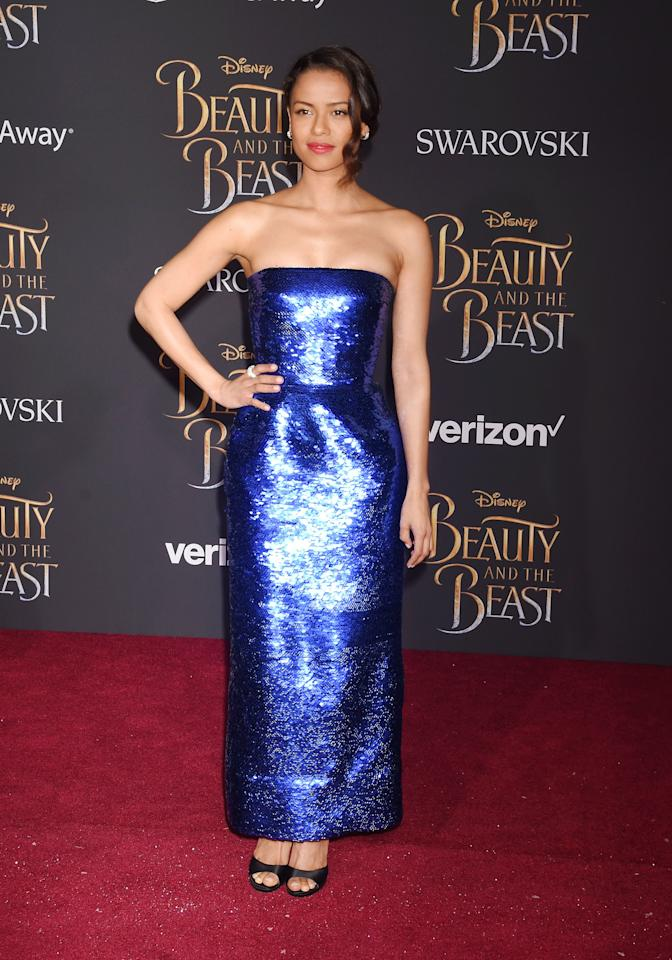 <p>Gugu Mbatha-Raw in Oscar De La Renta at the premiere of <em>Beauty and the Beast</em> in Los Angeles, California, March 2017.</p>