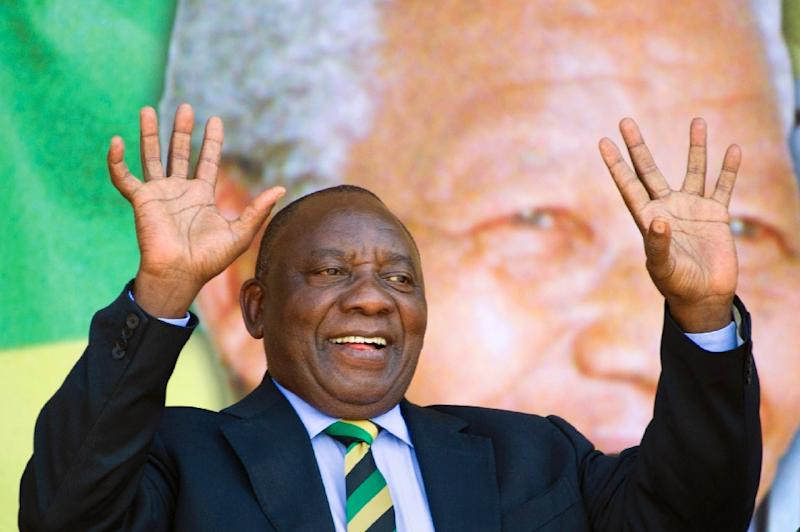 South Africa's parliament will elect Cyril Ramaphosa, seen here on February 11, 2018 in Cape Town, as the country's new president, the ruling ANC party said, after Jacob Zuma resigned in a late-night television address