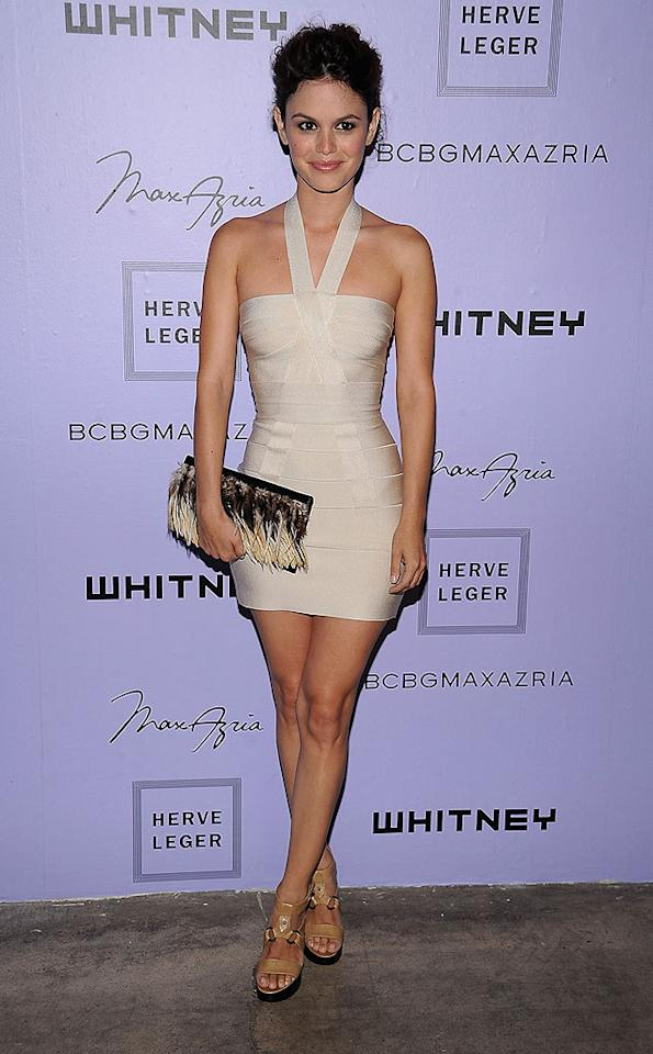 """The event's co-chair, Rachel Bilson, looks super sexy in a form-fitting Herve Leger dress. Dimitrios Kambouris/<a href=""""http://www.wireimage.com"""" target=""""new"""">WireImage.com</a> - June 17, 2008"""