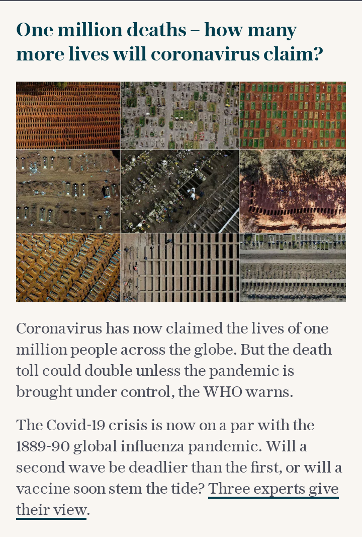 Coronavirus deaths hit one million – how many more lives will it claim?