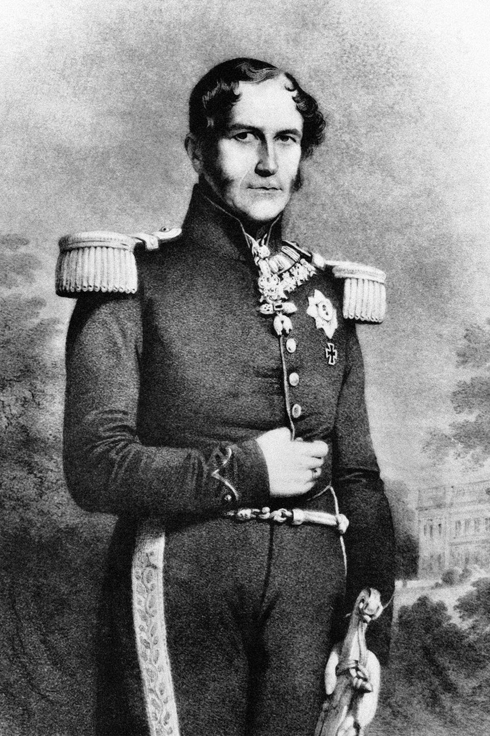 "<p>While it was only a rumor that King Leopold I was Prince Albert's dad, it was confirmed that the king fathered two other children out of wedlock—George and Arthur. Leopold's mistress Arcadie Meyer gave birth to George in 1849, and Arthur just three years later in 1852. Both sons were granted the title ""<a href=""https://en.wikipedia.org/wiki/Leopold_I_of_Belgium"" rel=""nofollow noopener"" target=""_blank"" data-ylk=""slk:Freiherr von Eppinghoven"" class=""link rapid-noclick-resp"">Freiherr von Eppinghoven</a>"" in 1862 by the king's nephew Ernest II, Duke of Saxe-Coburg and Gotha.</p>"