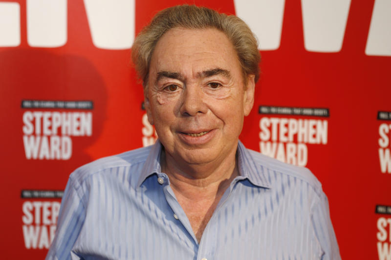 Andrew Lloyd Webber poses for a photo, during the launch photocall of his new musical 'Stephen Ward', in London, Monday, Sept. 30, 2013. The show charts the rise and fall from grace of society osteopath, Stephen Ward and his involvement with Christine Keeler and Mandy Rice Davies in the 1960s. (AP Photo/Sang Tan)