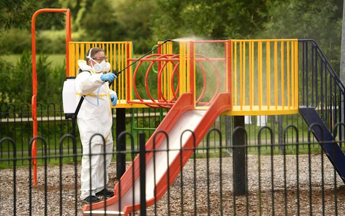 Salisbury City Council preparing for the reopening of playgrounds last weekend - Russell Sach