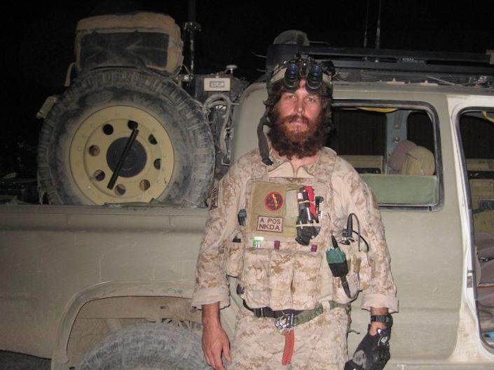 Kristin Beck outfitted for war