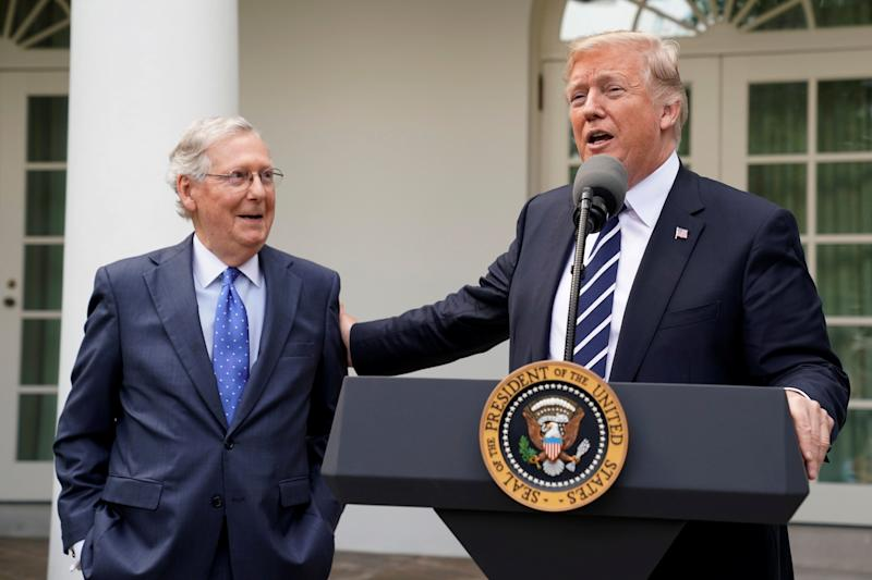 Senate Majority Leader Mitch McConnell (R-Ky.) is about to score some points with President Donald Trump for expediting judicial confirmations.